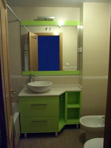 Muebles Baño Verde PistachoFoto Mueble Lacado en Verde Pistacho de