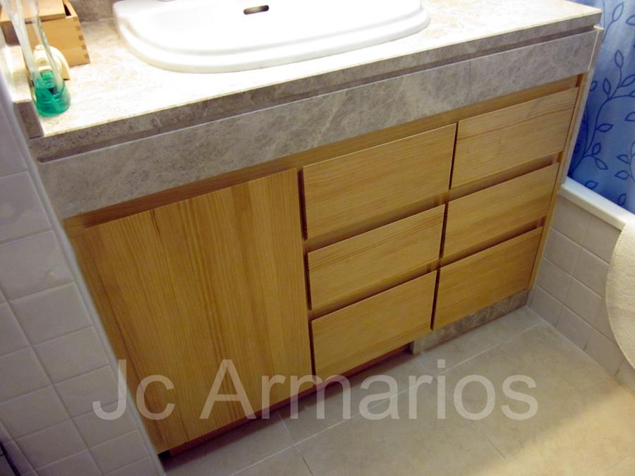 Foto mueble lavabo pino macizo de jc armarios 237443 - Muebles pino macizo ...