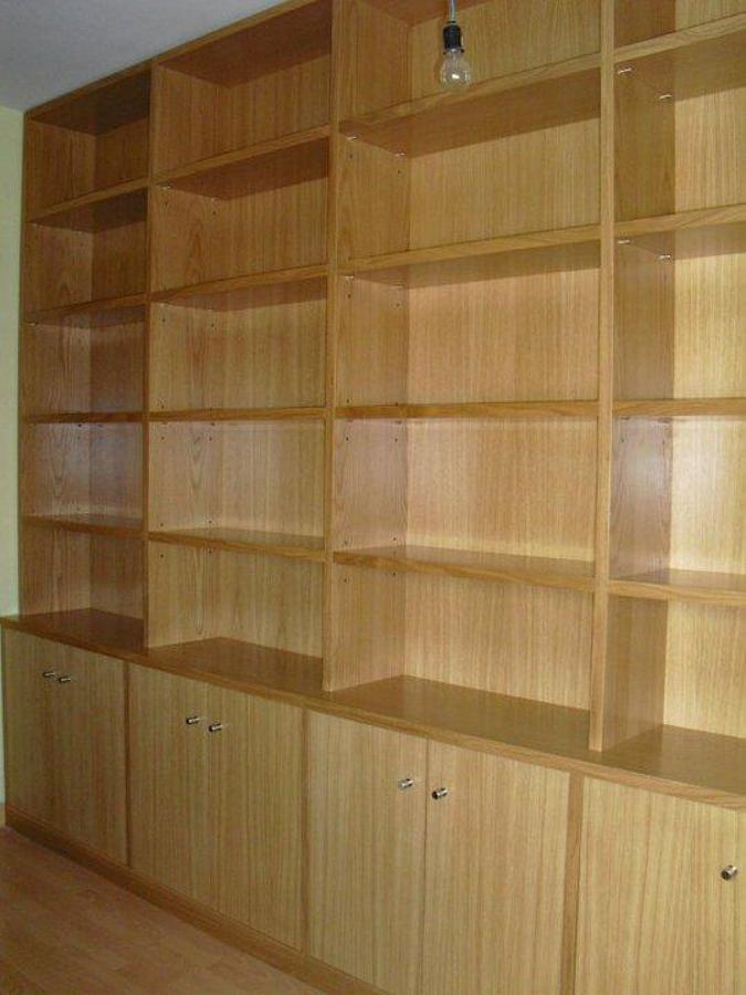 Foto mueble libreria en roble de carpinteria mercader s l - Mueble libreria a medida ...