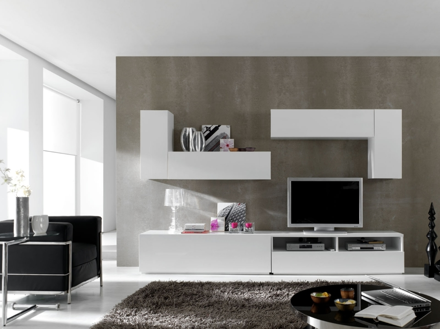 foto mueble modular lacado blanco de muebles la plaza del castillo 421946 habitissimo. Black Bedroom Furniture Sets. Home Design Ideas