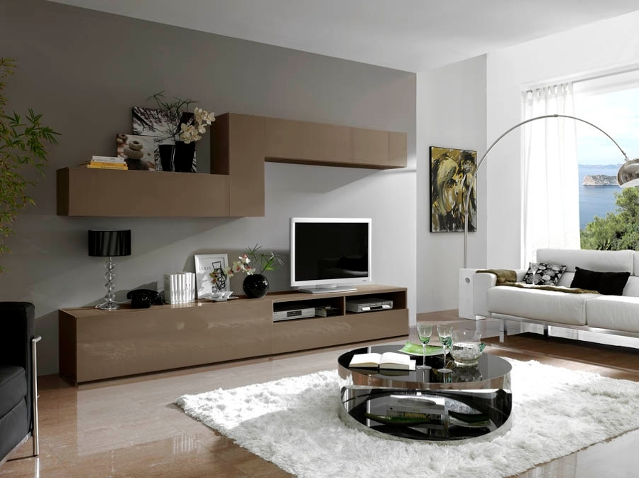Mueble modular lacado visón.