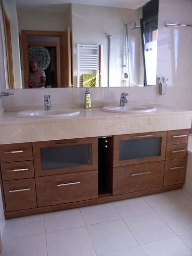 Muebles Para Baño Toalleros:Foto: Mueble Nogal bajo Encimera con Toallero de Muebles De Baño Jara