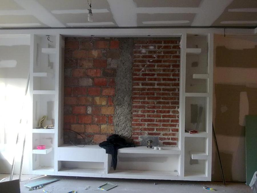 Foto mueble pladur de javier 449050 habitissimo - Muebles de escayola para salon ...