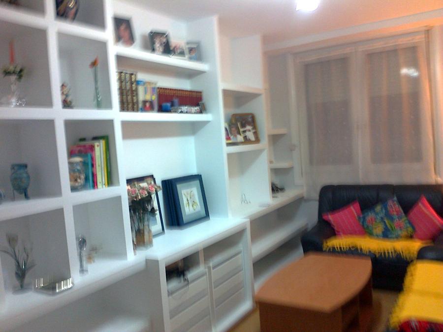 Foto mueble salon a medida la pe a bilbao de reformas - Muebles de pladur para salon ...