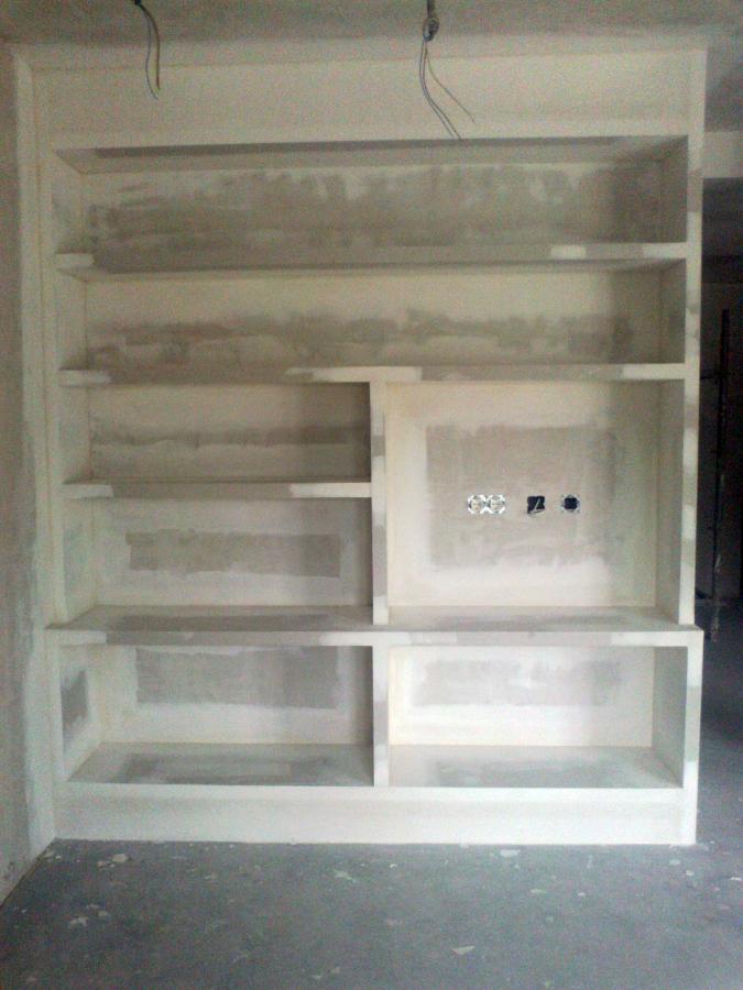 Foto mueble salon leioa de reformas pladur y escayola - Muebles de escayola modernos ...