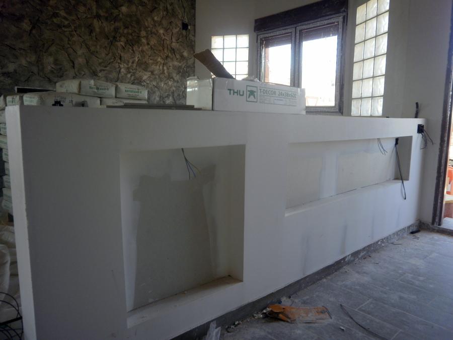 foto mueble yeso laminado de la plana techos y tabiques