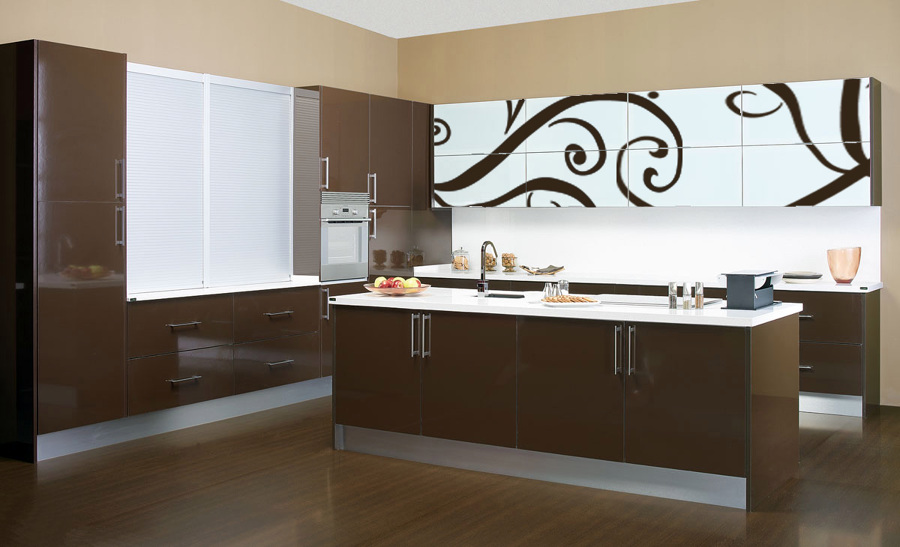 Baños Minimalistas Color Chocolate:Foto: Muebles Laminados Color Chocolate 4 Cantos de New Line Kitchen