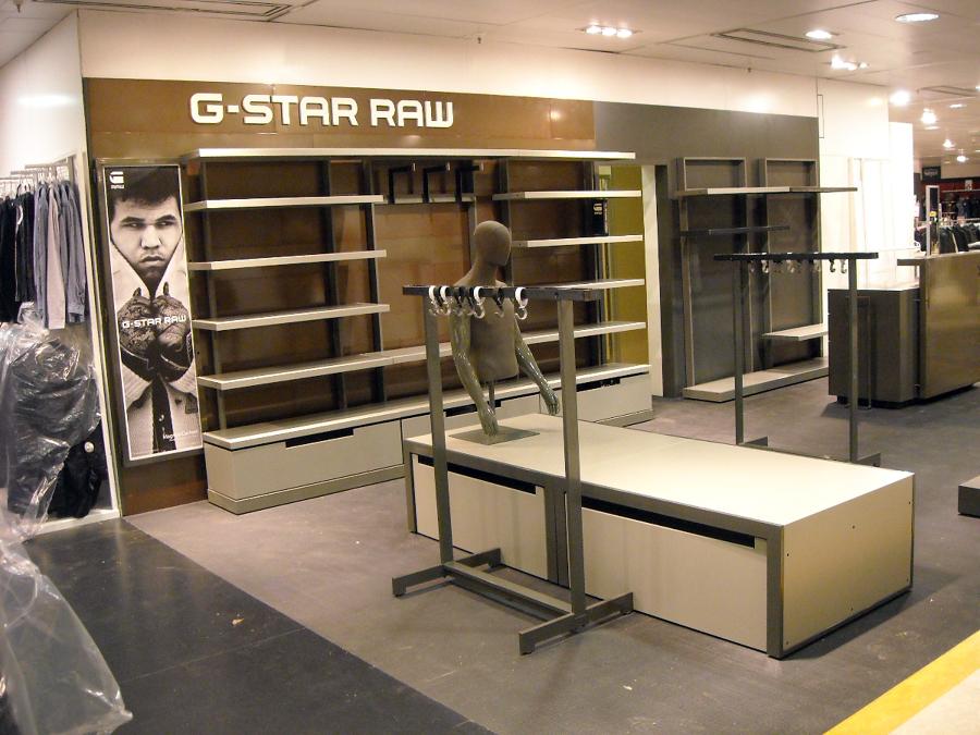 Muebles tienda G-Star