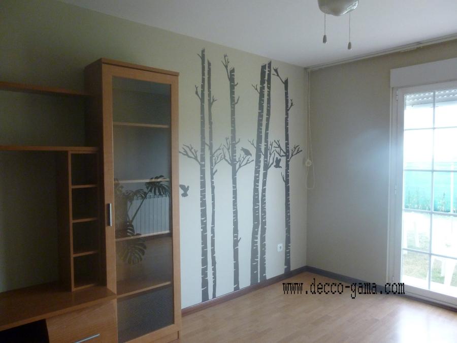 Mural pintado ,cañas de bambú