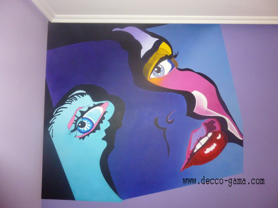 Mural pintado de rostro