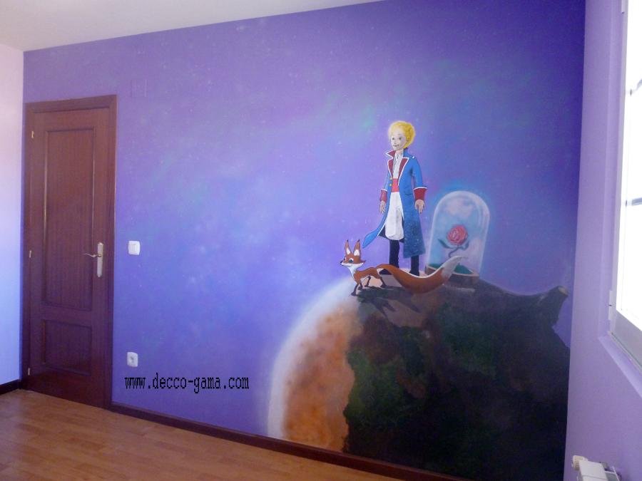 Mural pintado del principito