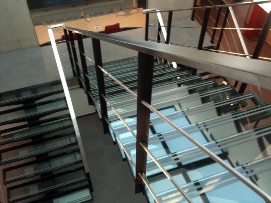 Escalera Cristal/acero