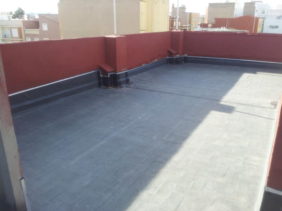 Impermeabilizacion de terraza con laminas EPDM