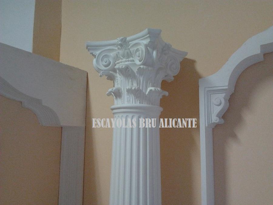 columnas de escayola, capiteles y arcos a medida
