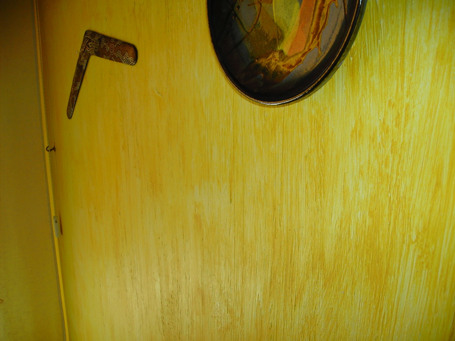 estuco rustico rayado acabado con veladura amarillo oxido