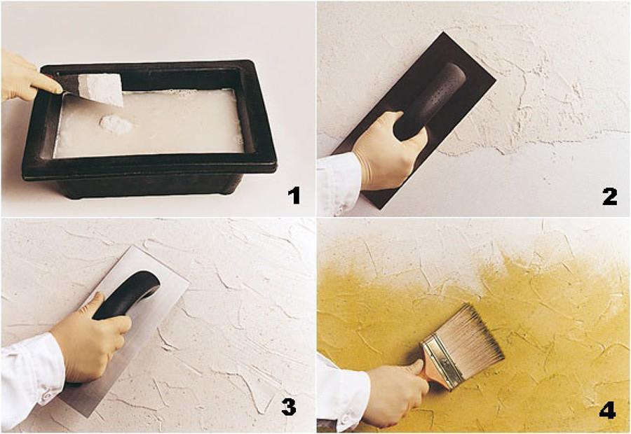 aplicación de pintura decorativa