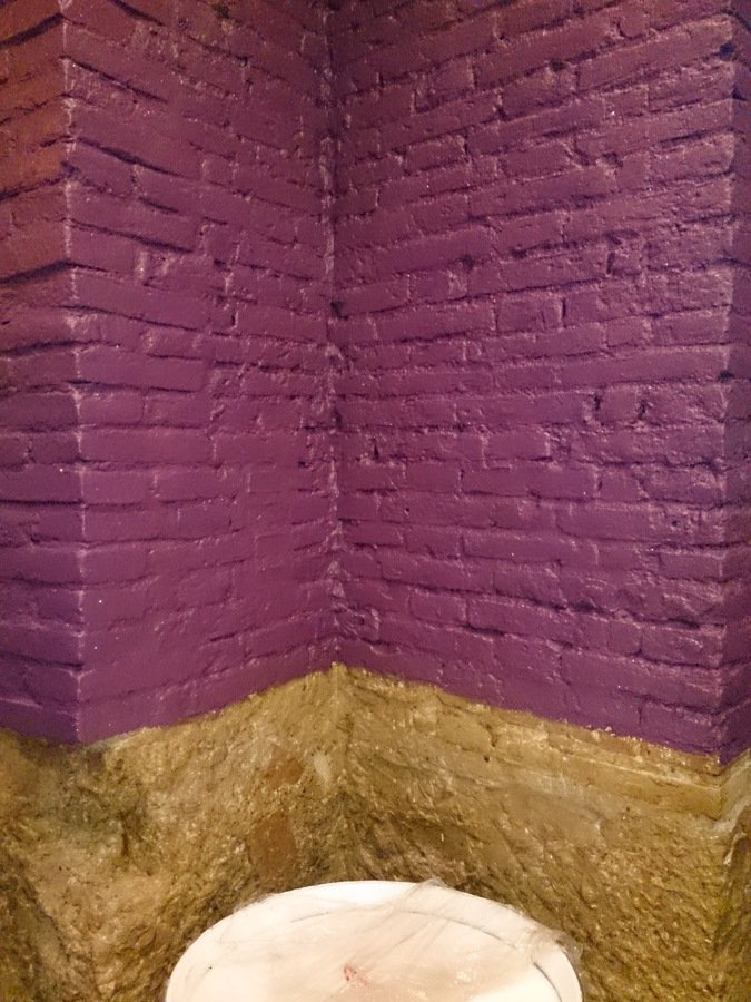 Terminado pintura color violeta