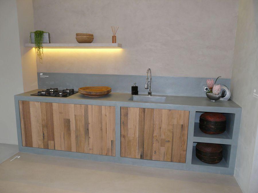 Foto cemento pulido mineral deco de mineral deco 502329 - Como hacer una encimera de cocina de obra ...