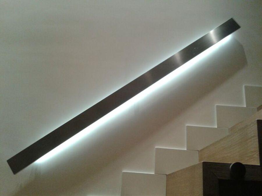Foto pasamanos de acero inoxidable con leds de metalix - Pasamanos de acero inoxidable para escaleras ...