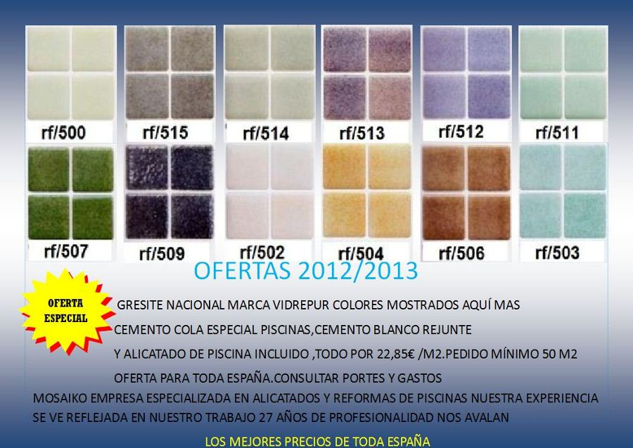 oferta gresite piscinas hasta final 2012