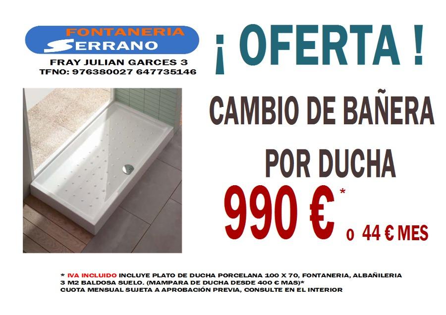 Foto oferta plato de ducha de fontaner a serrano 134549 for Ofertas platos de ducha