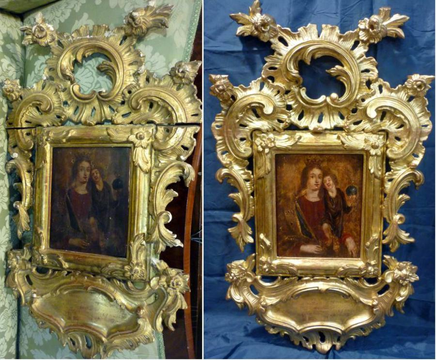 Foto leo sobre cobre y marco dorado de poca de anton - Muebles epoca salamanca ...