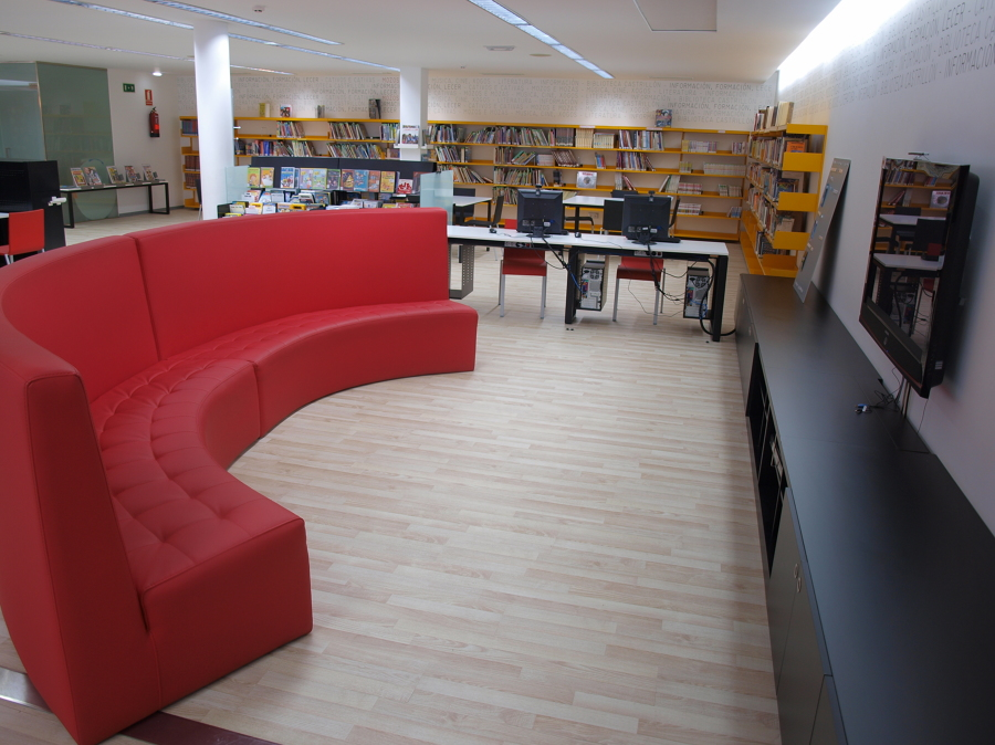 Area Chill-out Biblioteca Castrillón