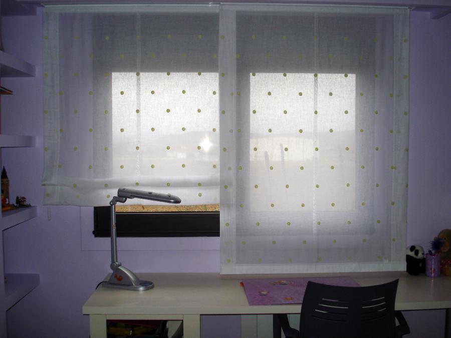 Foto panel japones con estor de cortinas luis vizcaya - Panel japones infantil ...