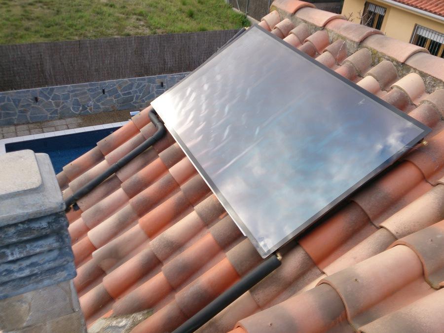 Instalación de agua caliente solar en unifamiliar