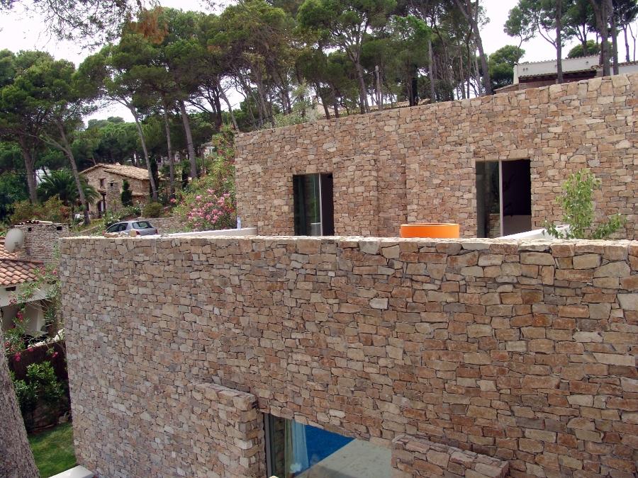 Placas de piedra natural novedoso de piedra natural - Revestir paredes exteriores ...