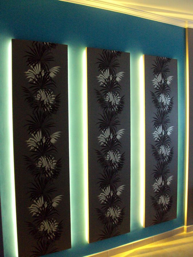 Paneles iluminados con led