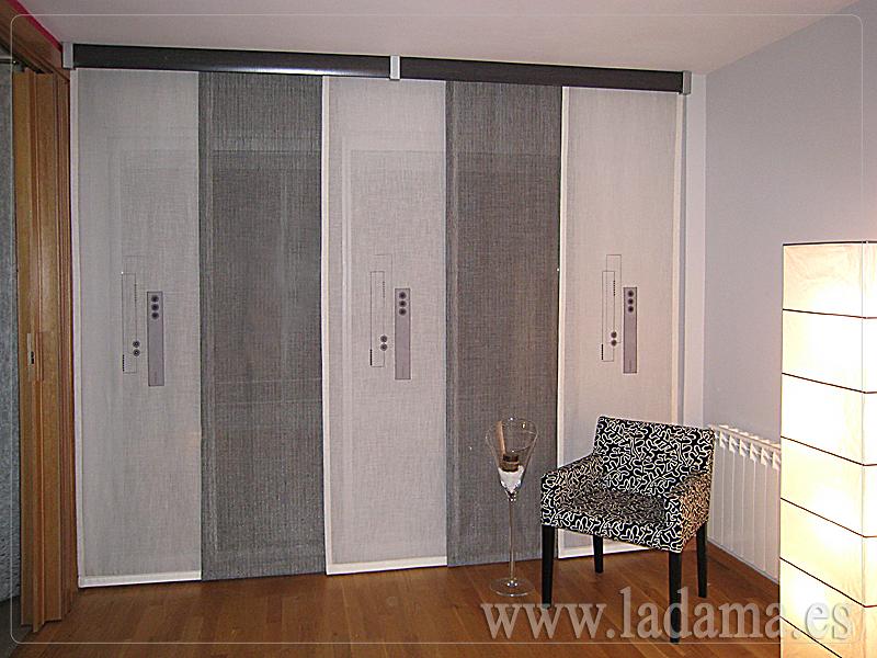 Foto paneles japoneses de la dama decoraci n 173148 - Cortinas para puertas leroy merlin ...