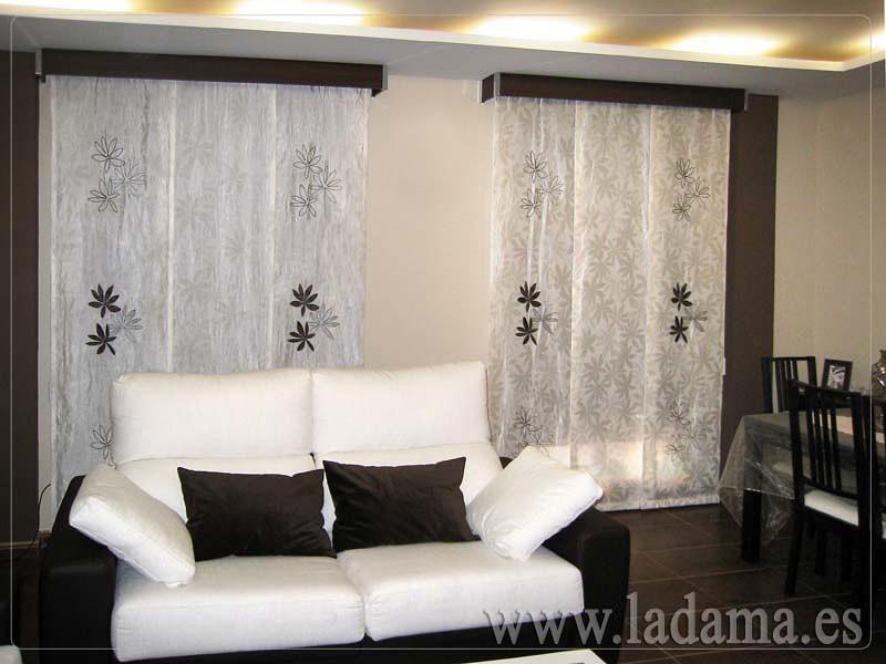 Foto paneles japoneses de la dama decoraci n 173178 for Precio cortinas salon