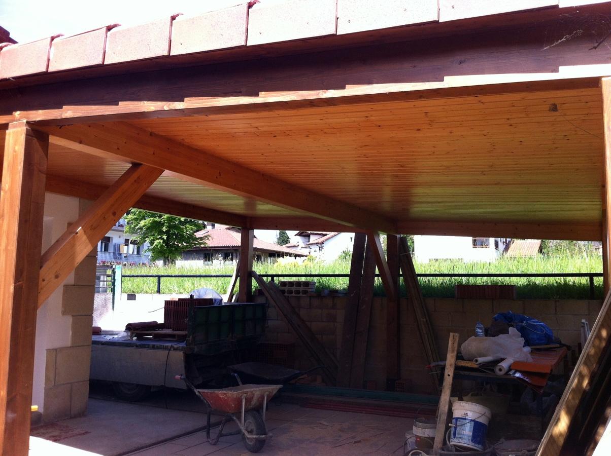 Foto paneles sandwich para cubiertas y porches de for Cubiertas para garajes