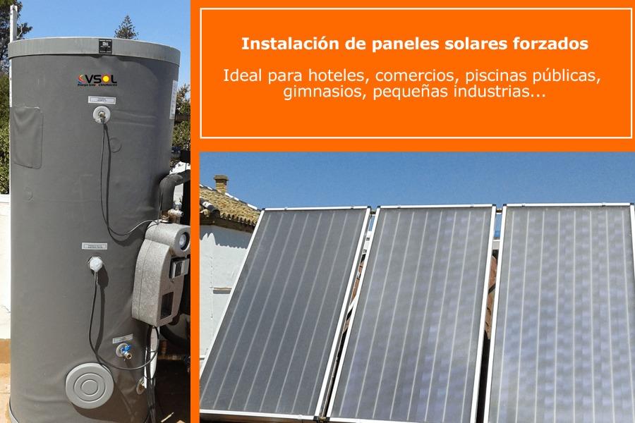Instalación paneles solares forazados