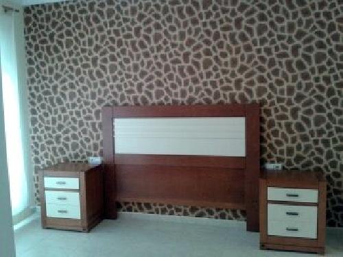 Foto papel pintado africa en cabecera dormitorio de pedro - Papel pintado dormitorio moderno ...