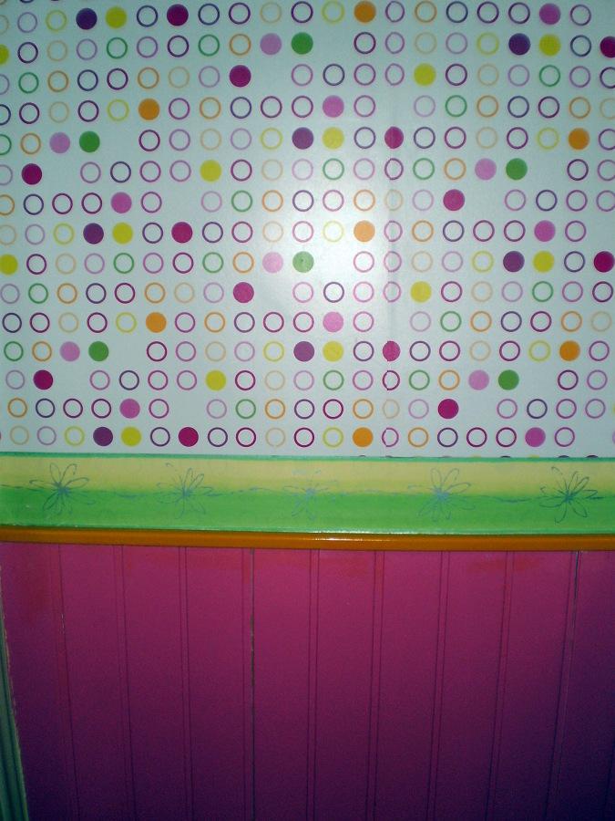 Foto papel pintado con zocalo lacado y cenefa de carlos for Papel pintado tenerife