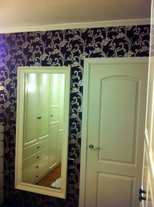 papel pintado en pared vestidor
