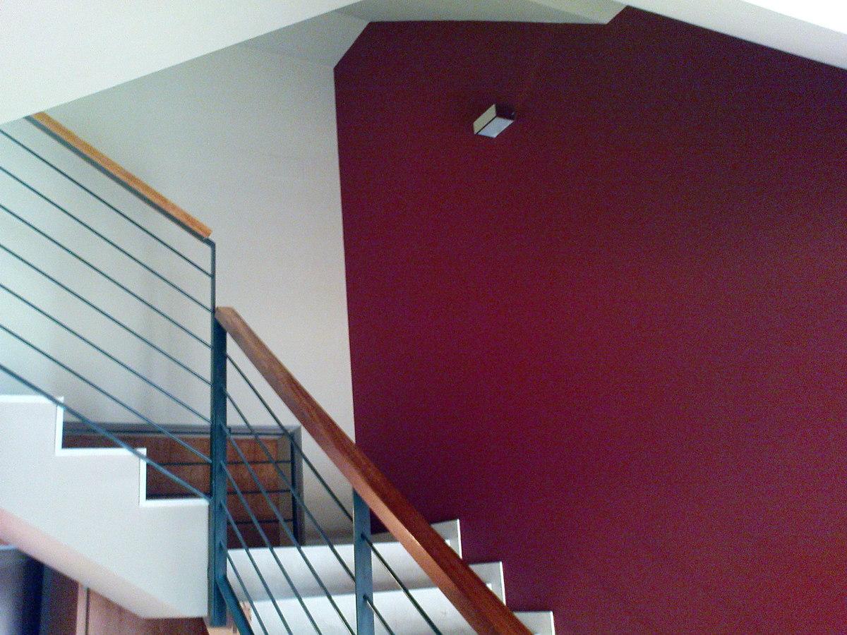 Pared color escalera