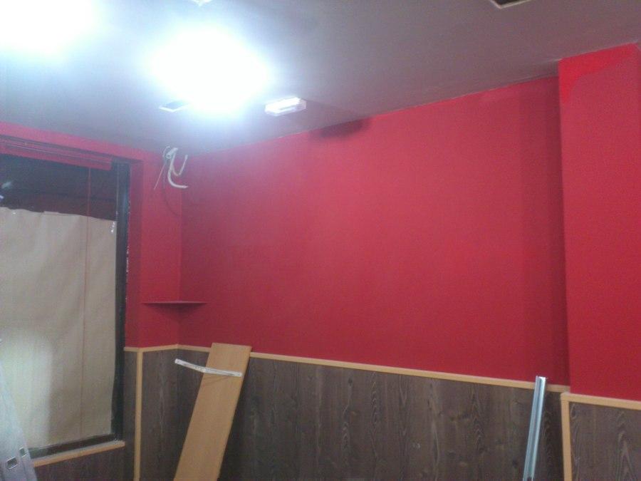 Foto pared de local color granate de pinturas gosa - Pared color granate ...