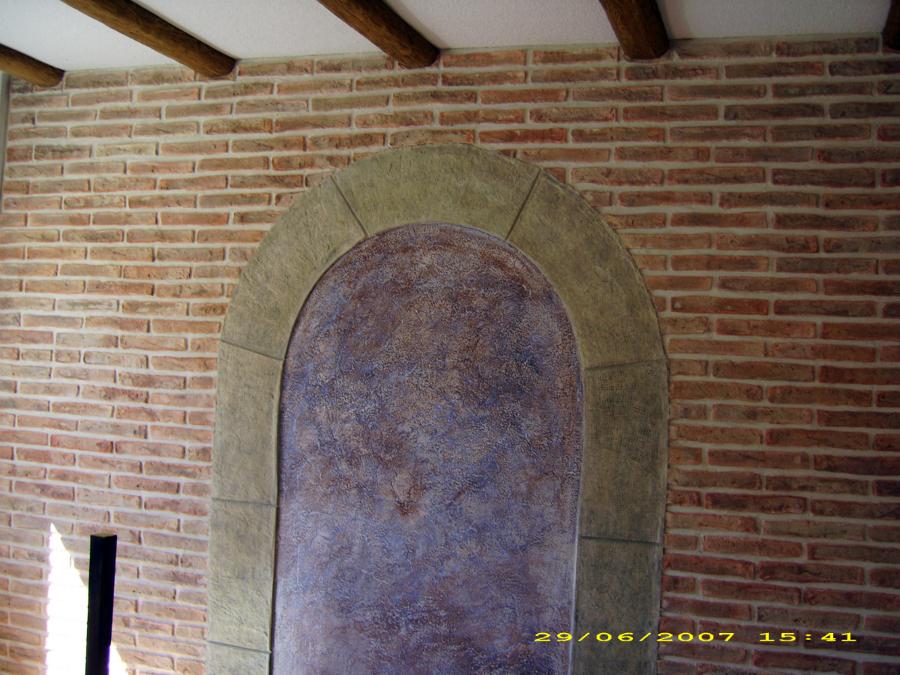 pared decorativa en salon