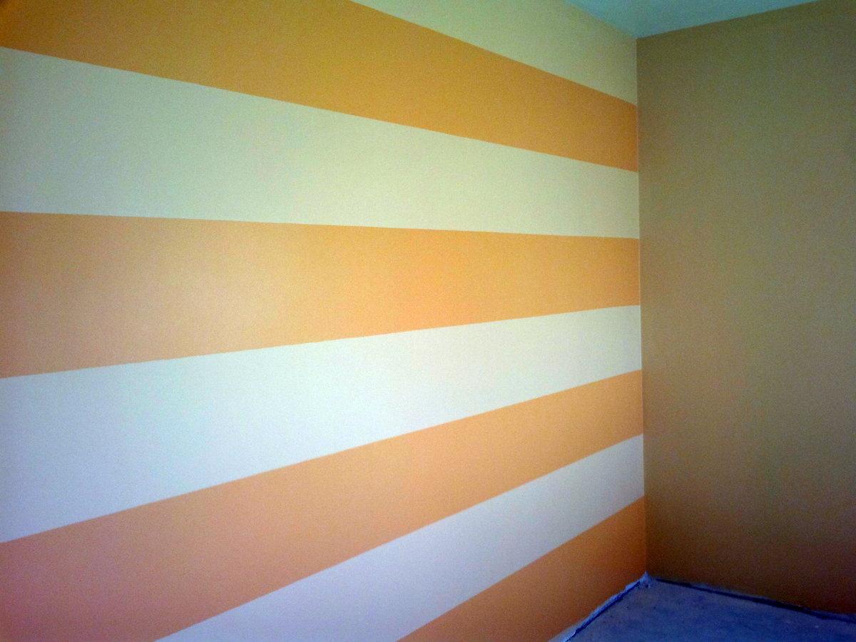 Foto paredes a rayas para de pinturas miguel 179365 for Fotos paredes pintadas