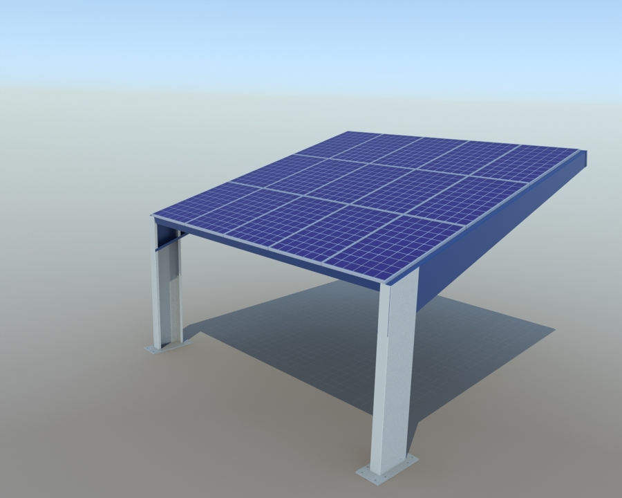 Diseño módulo parking solar FV 4kW 100% modular