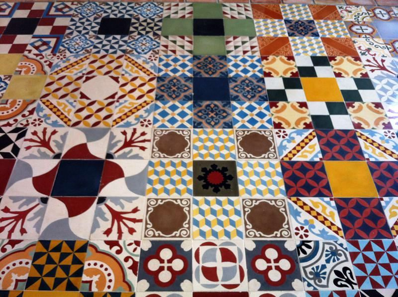 Foto patchwork baldosas de baldosas hidr ulicas - Mosaico hidraulico precio ...