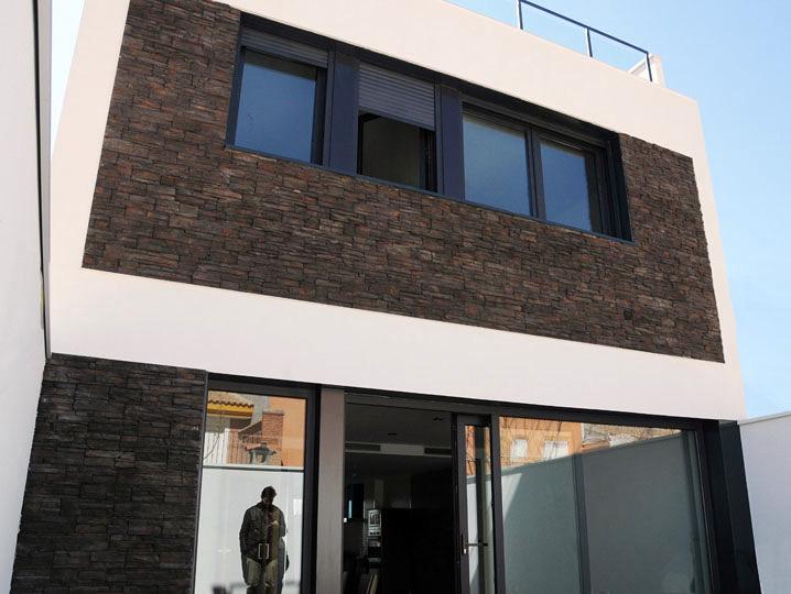 Patio de vivienda unifamiliar en Albacete