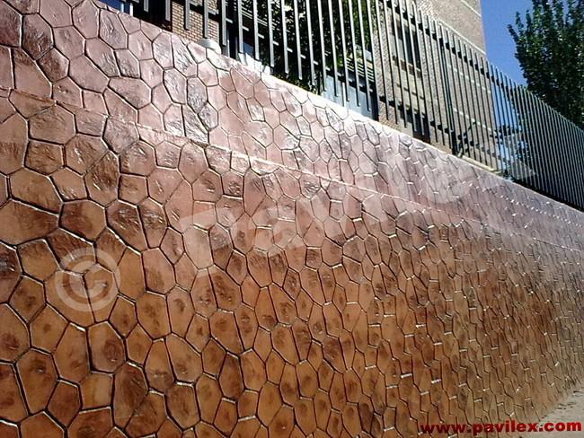 Foto pavimento en vertical foto hormigon impreso hormigon for Pavimento de hormigon tarragona