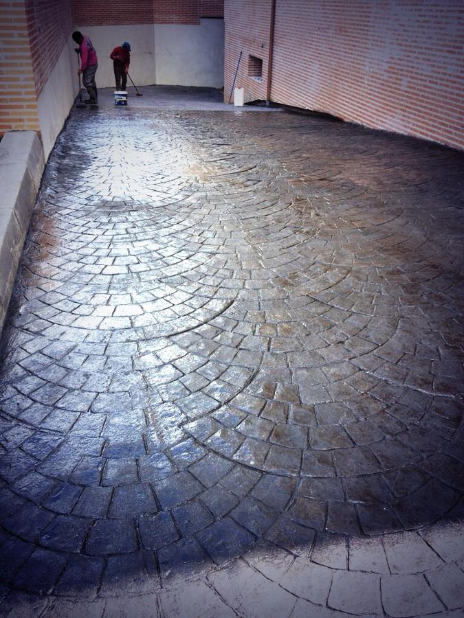 Foto pavimento impreso de pavintec obras civiles 532389 for Pavimento impreso tarragona