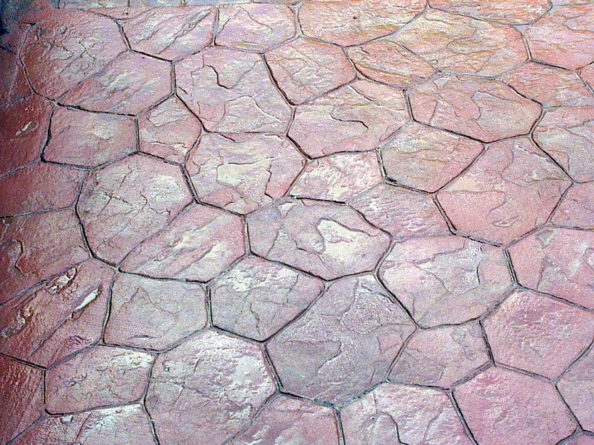 pavimentos impreso de piedra irregular