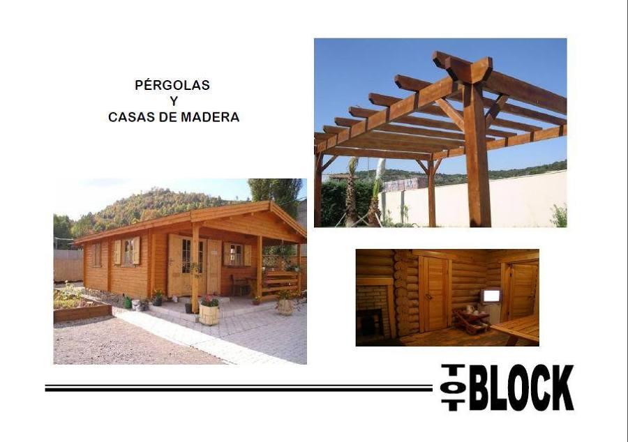 Foto p rgolas y casas de madera de tot block domingo - Casas de madera zaragoza ...