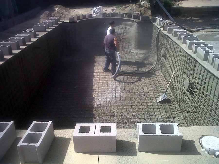 Construcción de piscina